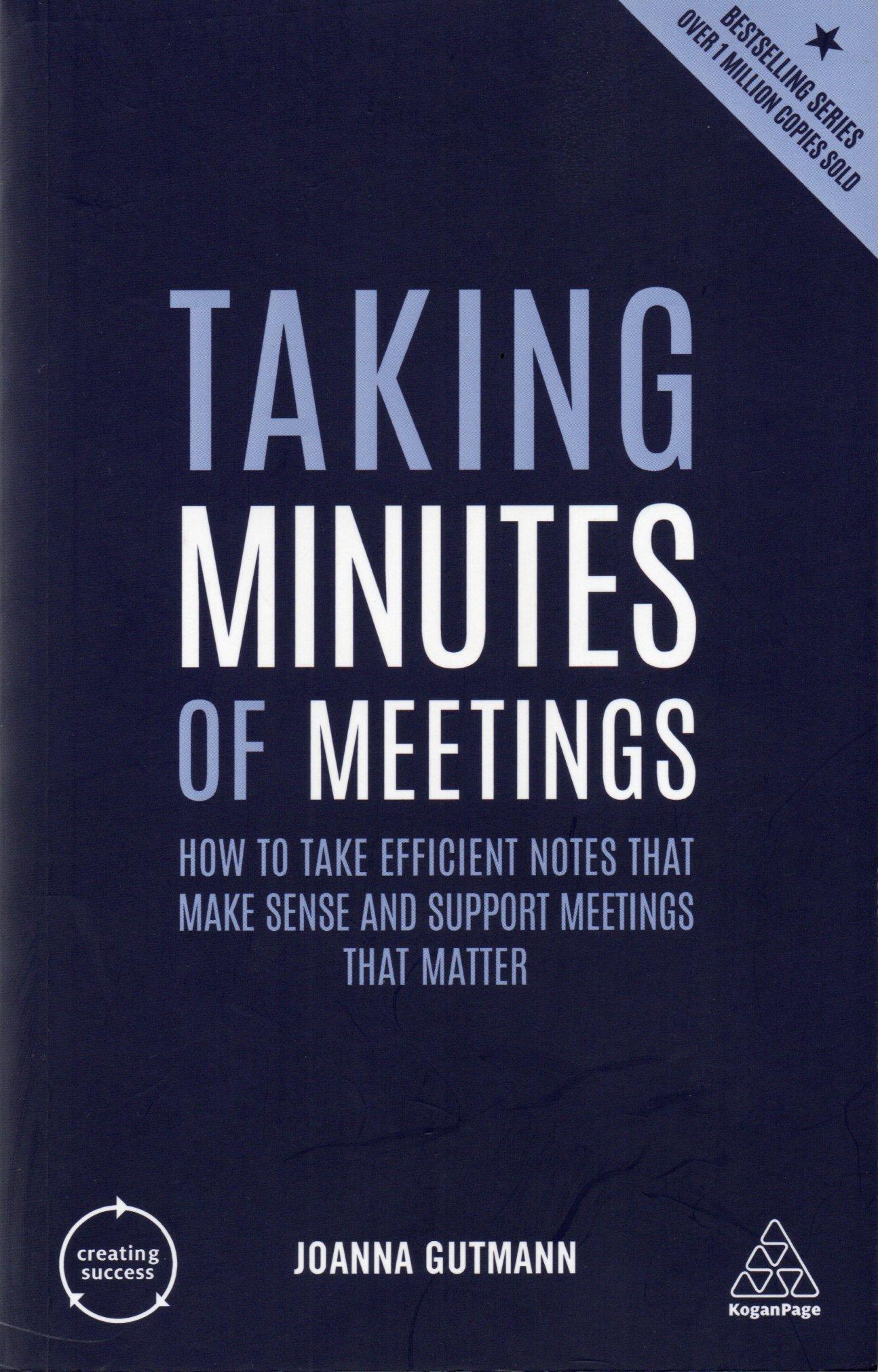 Taking minutes of meeting / Joanna Gutmann